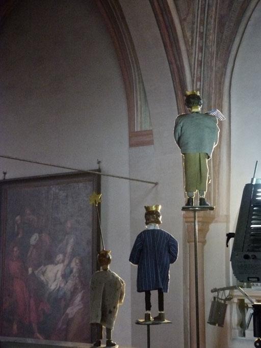 am 6. Januar haben sie dann ihr Ziel erreicht .... (Milieukrippe Sankt Maria Lyskirchen, Idee und Konzeption: Benjamin Marx, Foto: Matthias Schnegg)