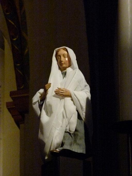 Da sagte Maria: Meine Seele preist die Größe des Herrn und mein Geist jubelt über Gott, meinen Retter.
