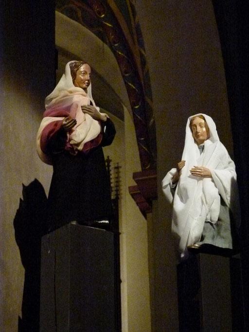 Die Begegnung zwischen Maria und Elisabet Lukas 1,39-40