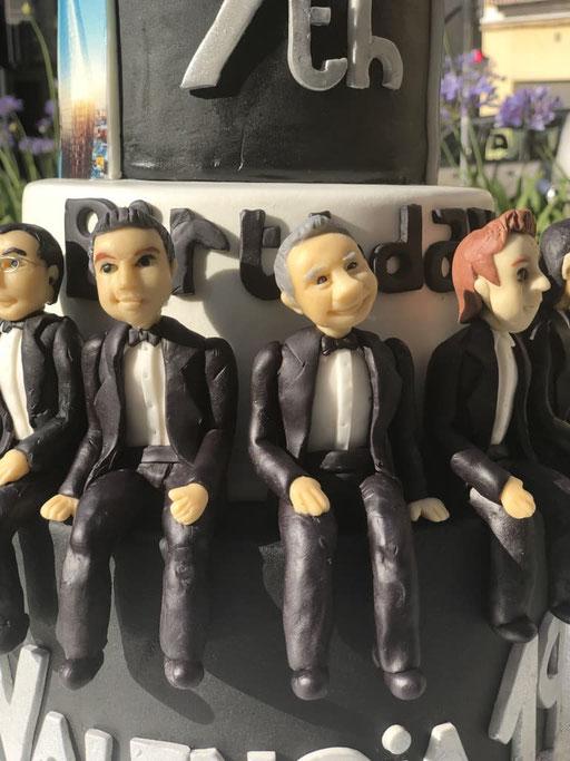Detalle figuras tarta corporativa Core Five
