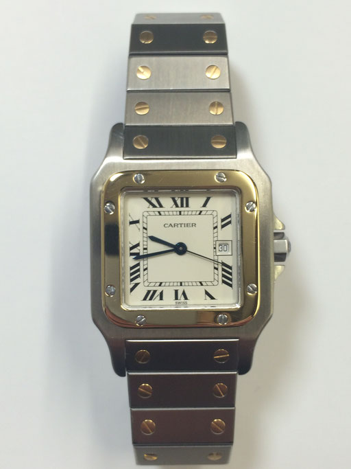 Cartier Santos Herrenuhr Stahl/Gold
