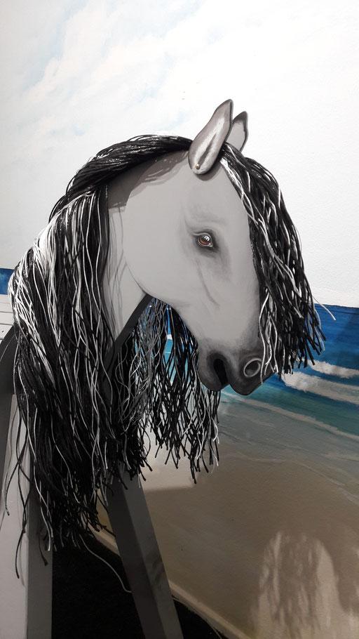 """""""Hada"""" (spanisch """"Fee"""") ein Kiger Mustang in grau (gulla) nach Fotovorlage"""