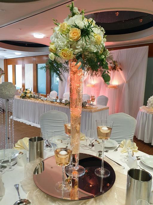 Vase Blumengesteck Hochzeitsdekoration