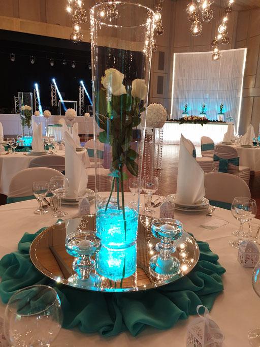 Bodenvase Rosen LED-Beleuchtung