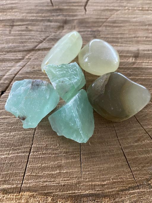 Calcite verte Nimalaé Lithothérapie et boutique de minéraux