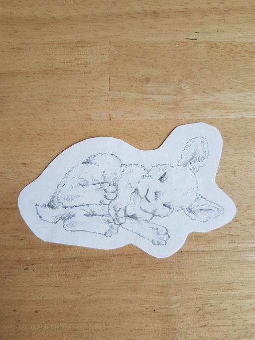 Lapin qui dort - Tatoueuse Marquise