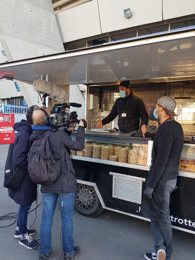 interview au Parc des Princes (SFEM & PSG  partenariat