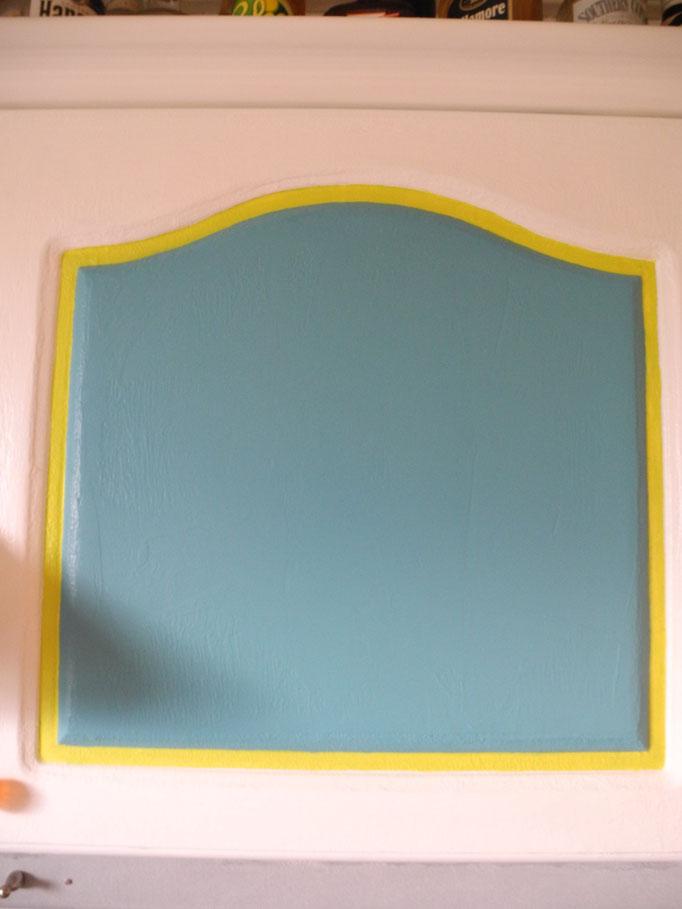 5 Lagen Eisenfarbe, 2 Lagen Tafelfarbe