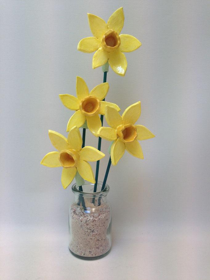 Narcis in glazen vaasje