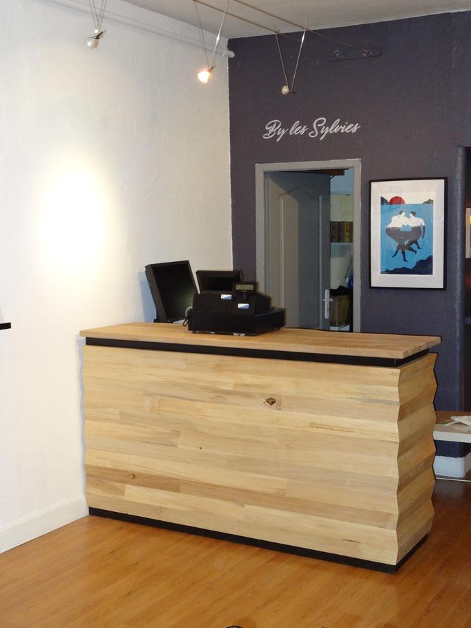 Comptoir d'accueil design