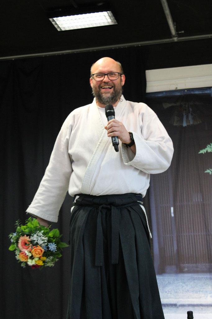 Von Christian einen Blumenstrauss für Solveig