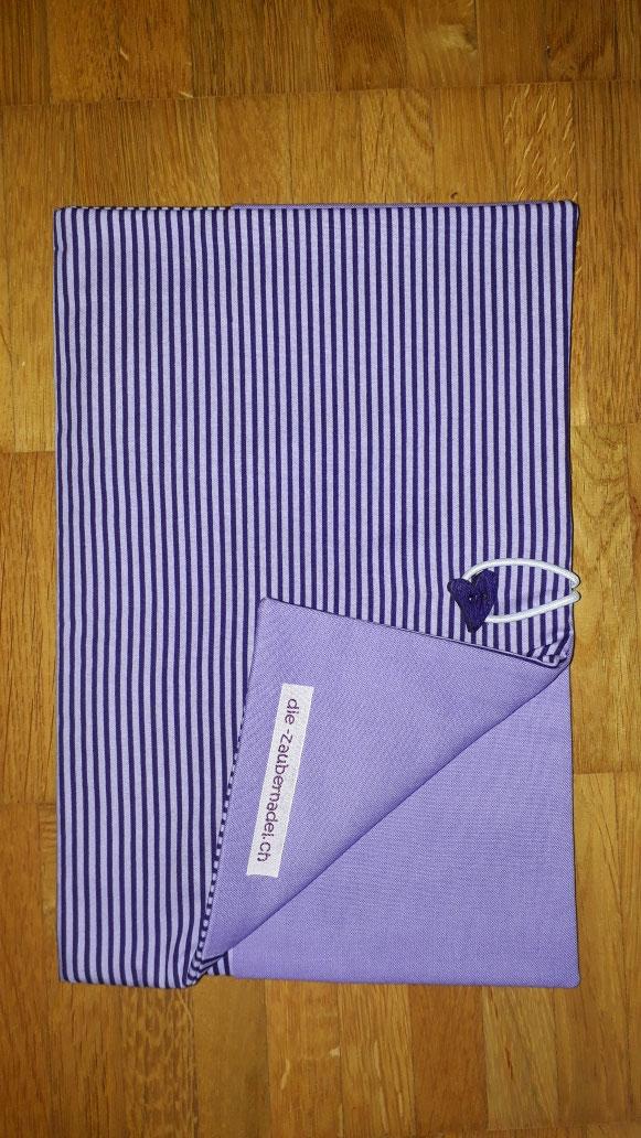 Wickeltasche, lila-flieder gestreift