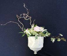pot à plante mural, percé et non gélif