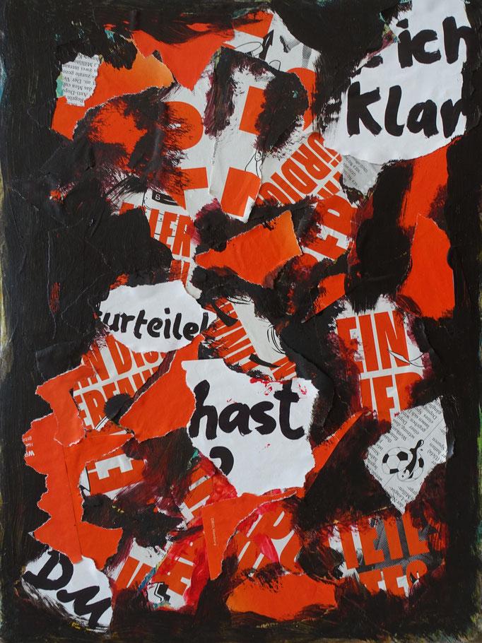 Johanna Schott // Collage // Acryl, Papier auf Pappe // 30 x 40 cm // 2020