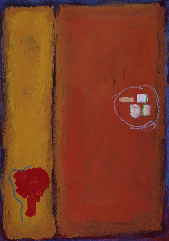 51,4x36 - Smalto e pastelli a olio su cartone