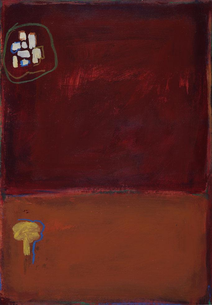 30,6x25,6 - Smalto e pastelli a olio su cartone