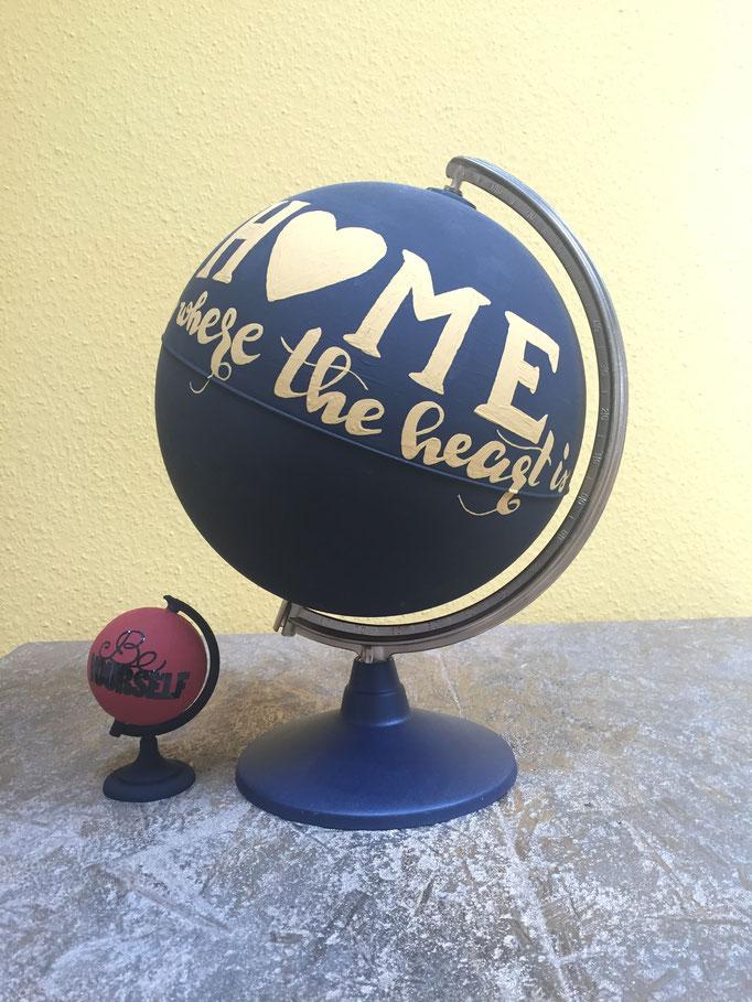 bemalter Globus
