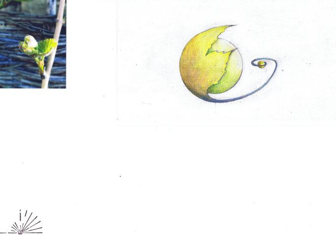 Suspensions fantastique Domaine Jean Marc Brocard création et realisation Hervé Arnoul. Making of feuille printemps.