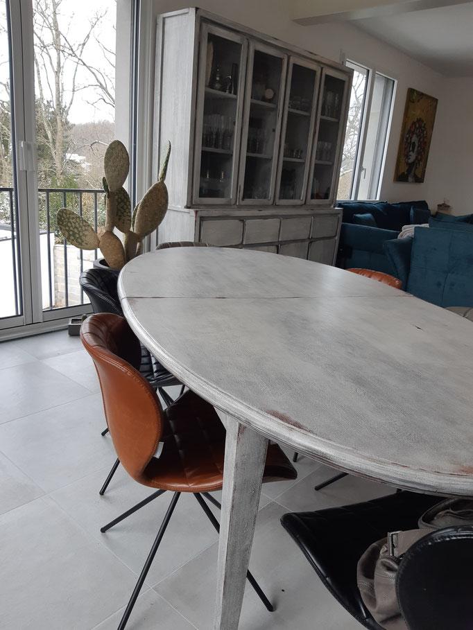 #Après Table ovale Style Récup