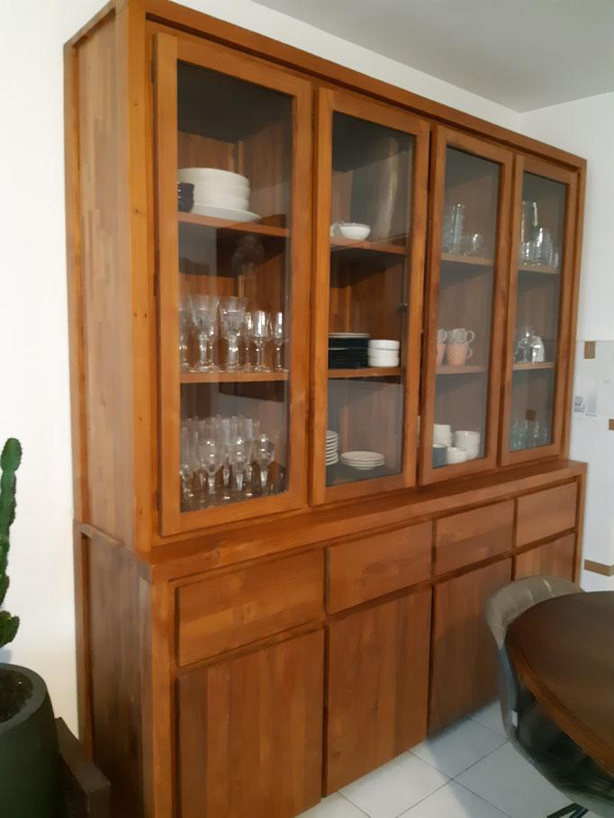 AVANT Vaisselier double corps vitrine en bois exotique
