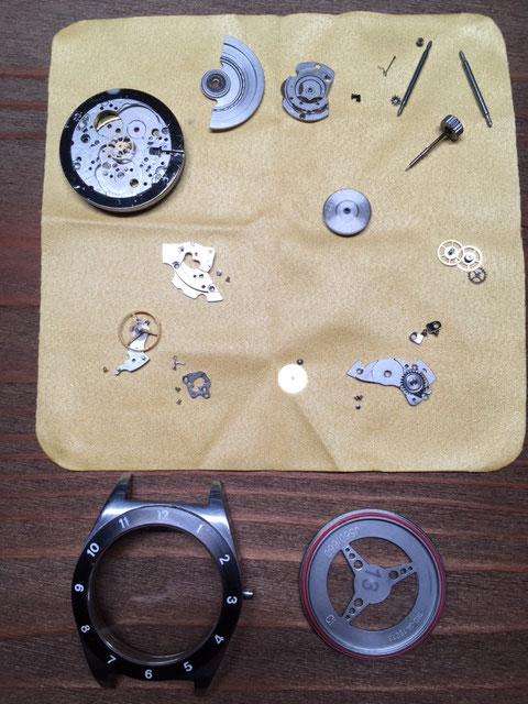 腕時計分解清掃