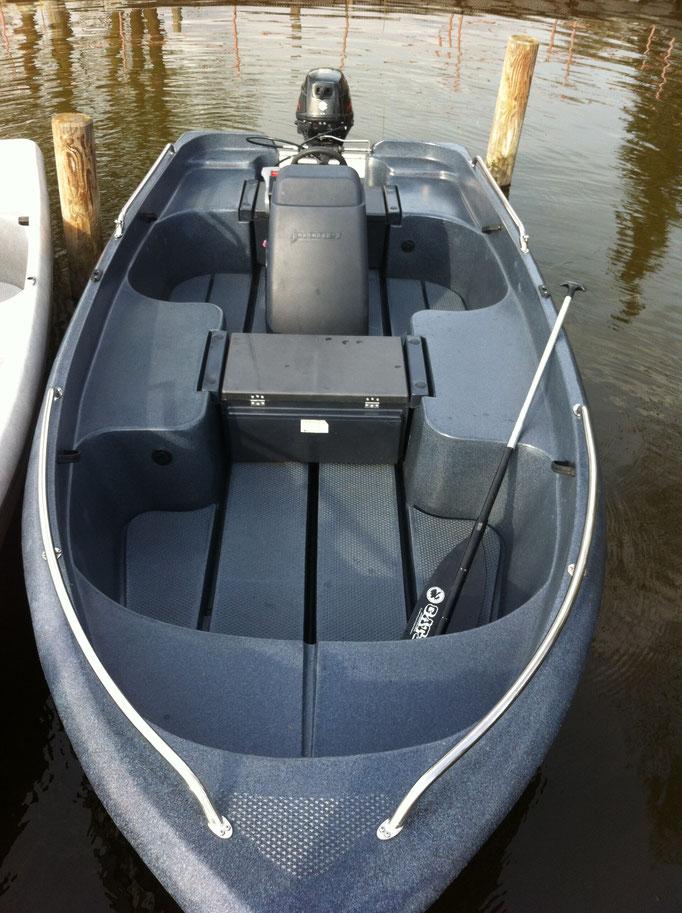 """15 PS - Motorboot führerscheinfrei, max. 5 Pers. """"Pioner Dark Line"""""""