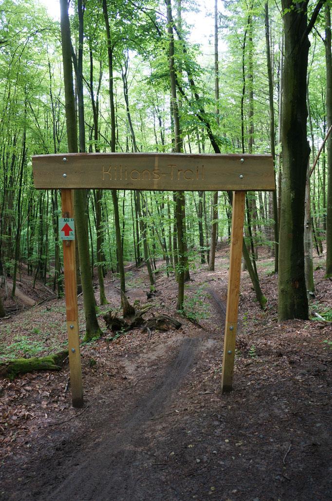 Berg- und Talbahn-Feeling bietet der kurze aber knackige Kilian-Trail