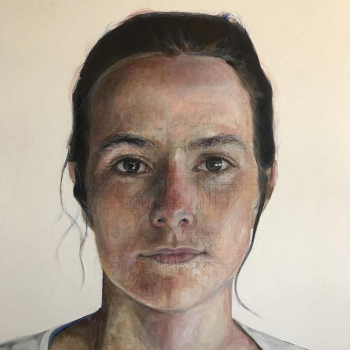 Monica acrylic on Canvas   Benjamin Parks