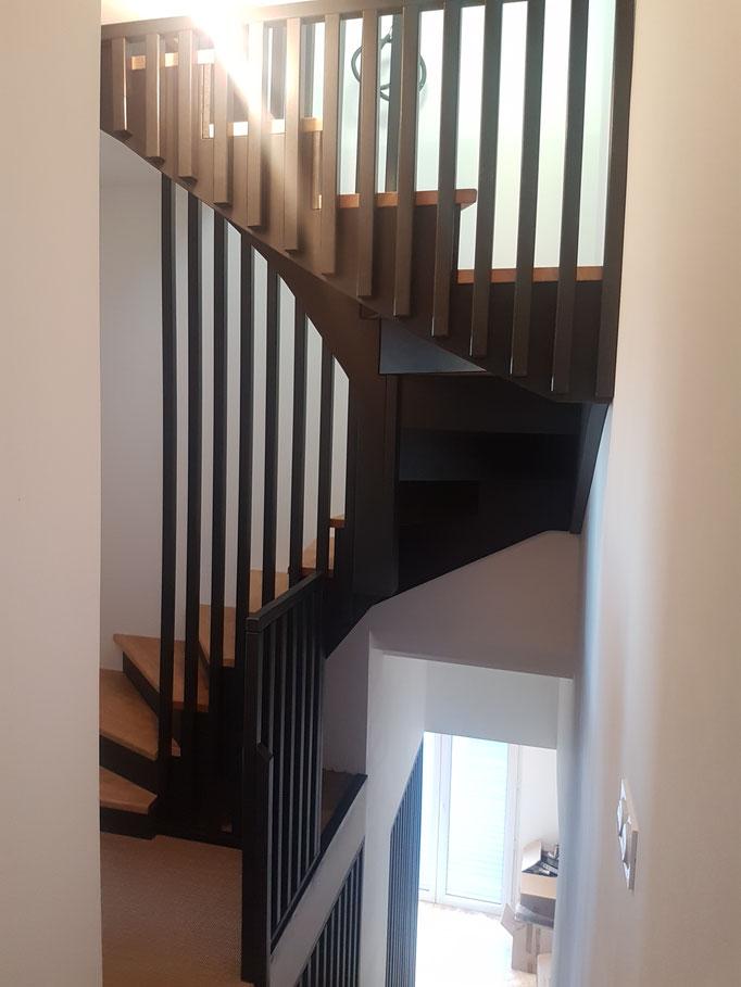Realisation Escalier A L Anglaise En U Escaliers Prosper
