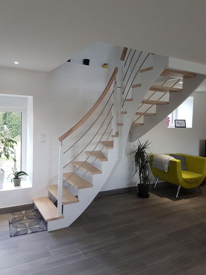 Realisation Escalier A L Anglaise En L Escaliers Prosper
