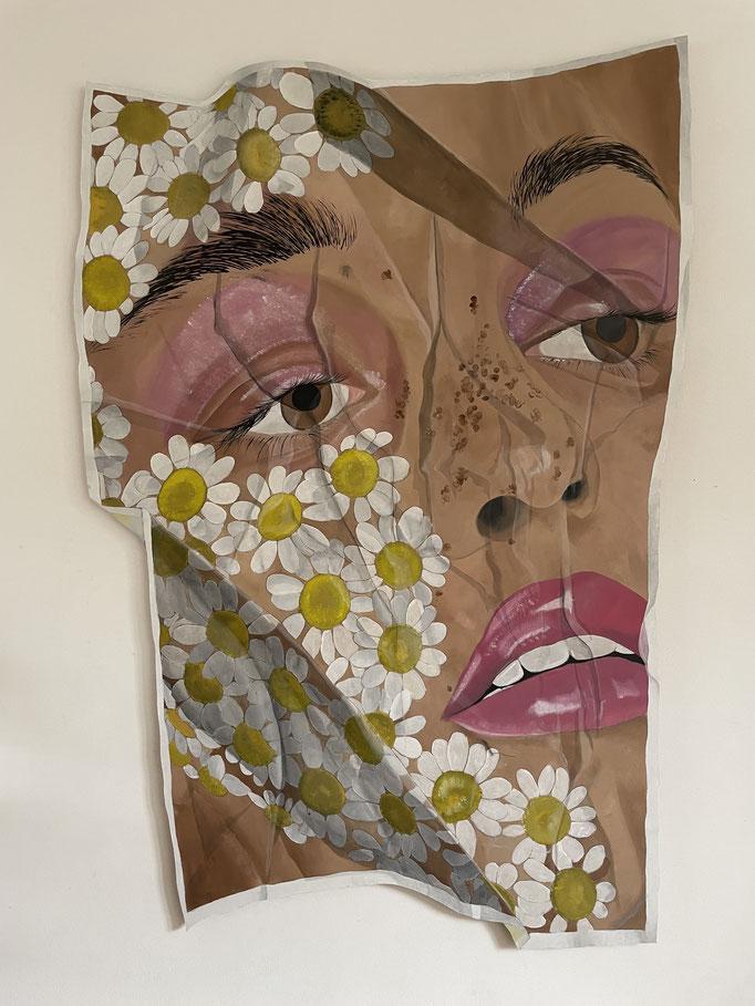 Flowergirl - Acrylic on Wood -