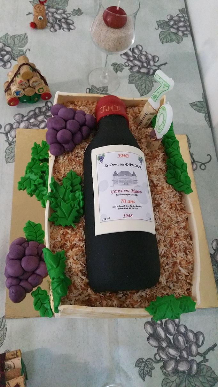 Anniversaire Bouteille de vin