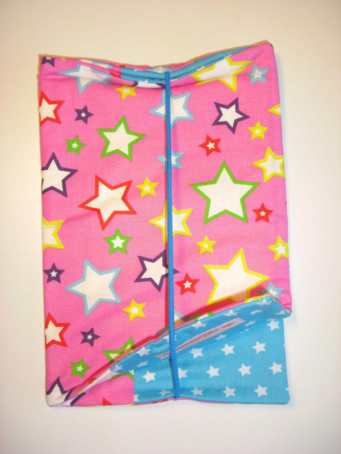 Wickeltasche, pink mit Sternen