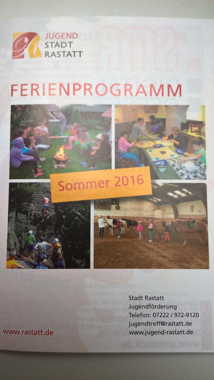 Das Sommerferienprogramm der Stadt Rastatt ist da! Wir sind dieses Jahr auch mit einem Angebot, der Pferderalley, dabei :)