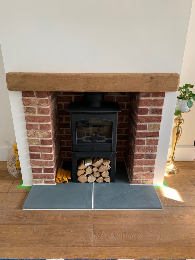 Reclaimed Mixture Fireplace Chamber with Extended Returns