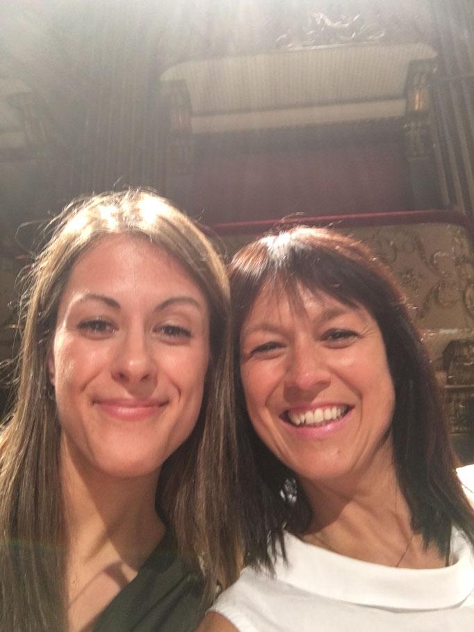 con Francesca Dego