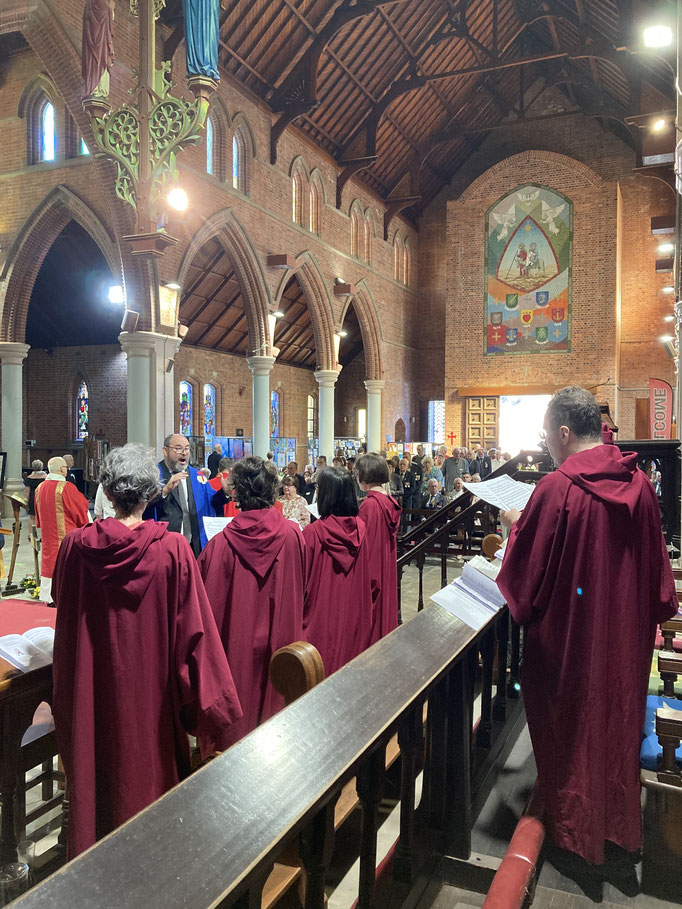 The Cathedral choir with director Sam Blanch