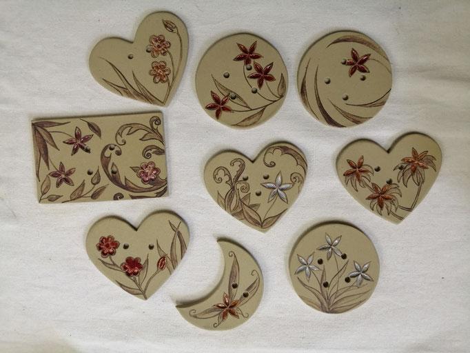 boutons pour décorer grillages, volets de bois et ferronneries