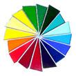 Farbkreis Tiffany Fensterbild
