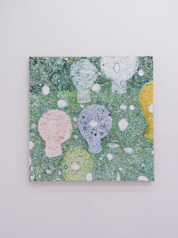 彷徨う,100 x 100 cm,oil on canvas