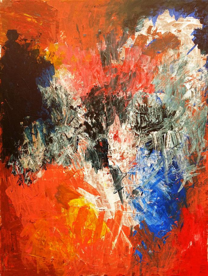 Johanna Schott // Adler // Acryl auf Papier // 52,5 x 71,5 cm // 2019
