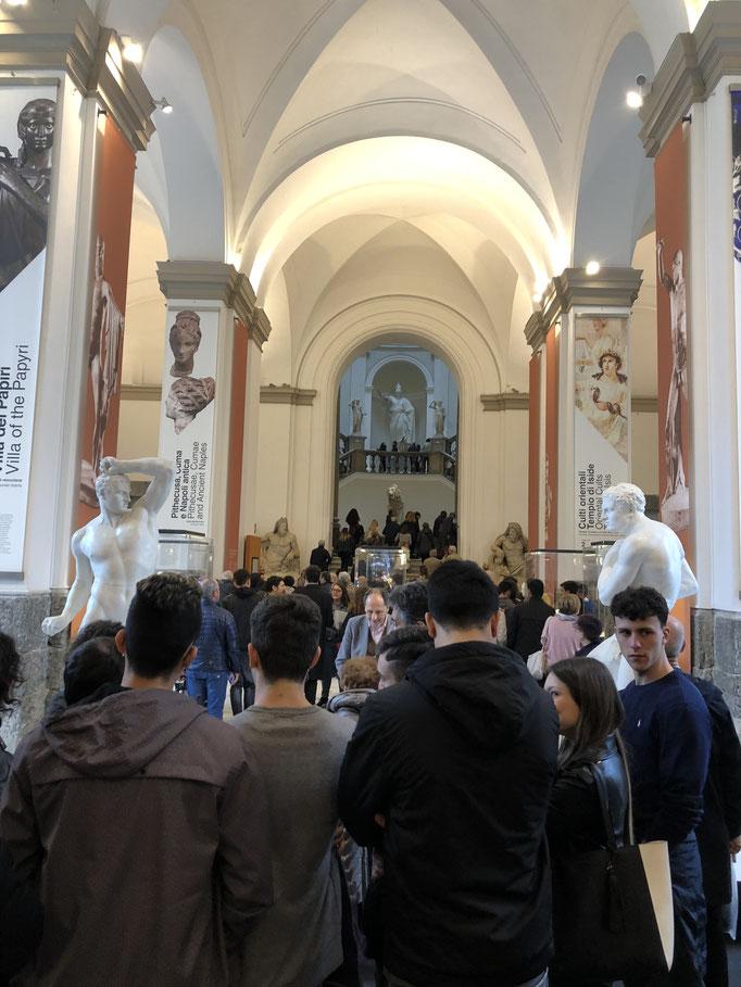 入館に1時間待ちは日常となっていたナポリの考古学博物館