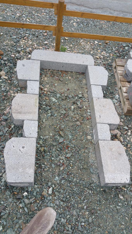 encadrement 90*2.15 granit gris