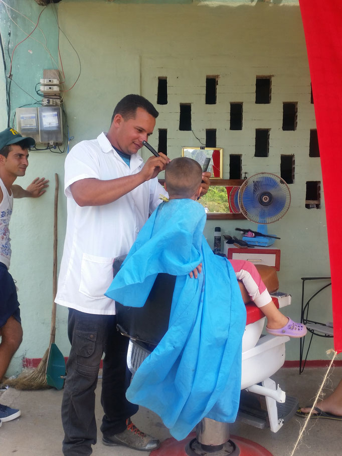 Coiffeur open air