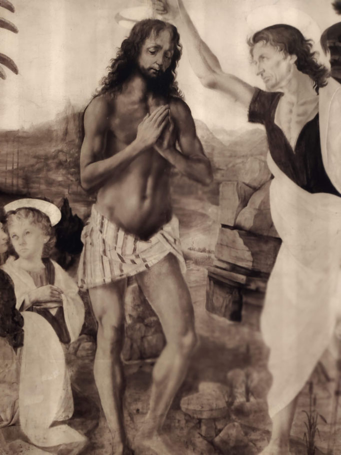 Baptême du Christ - Léonard de Vinci et Andrea Del Verrocchio (1472-1475)