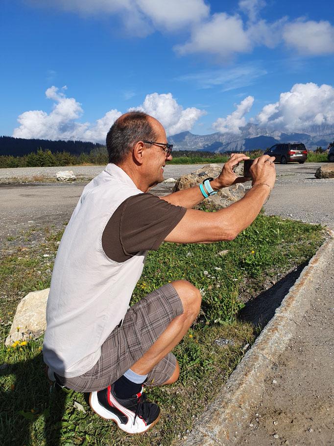 Chauffeur und Fotograf Werner in Aktion