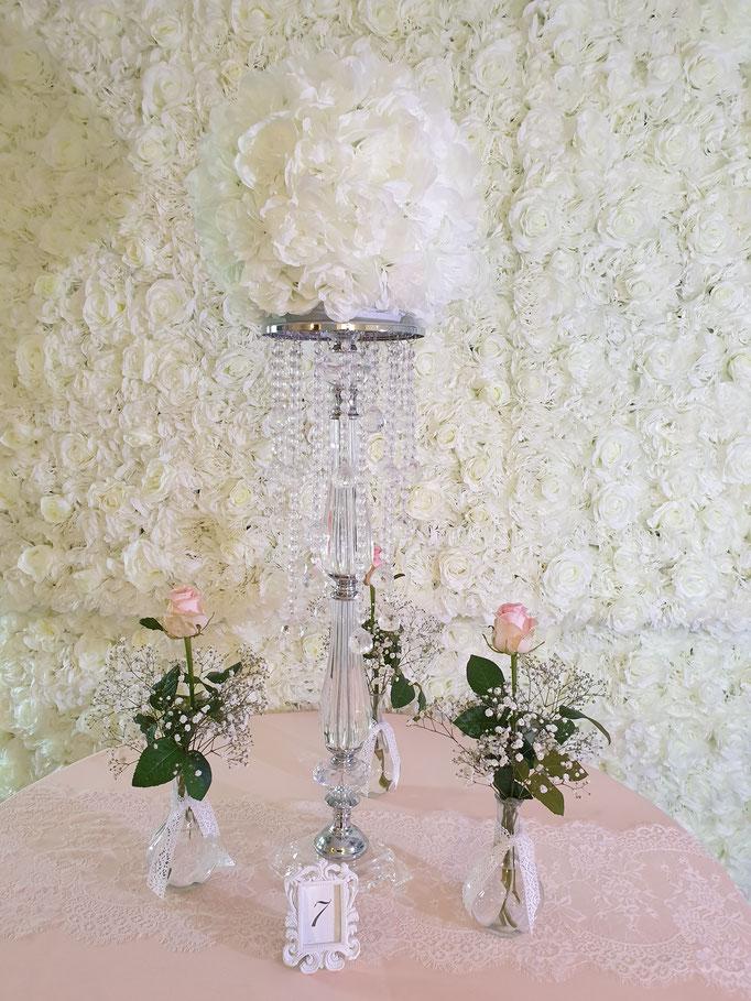 Vintage Dekoration Kristallständer Blumensäule