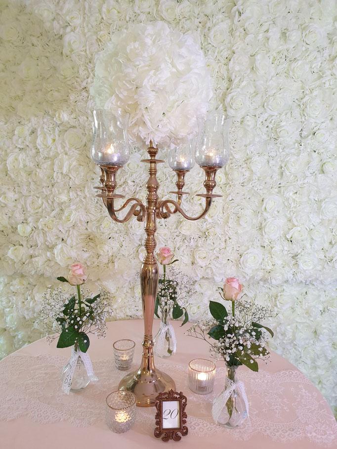 Vintage Dekoration Kerzenständer rosegold
