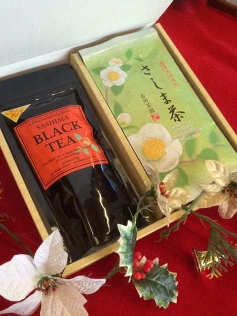 国産和紅茶のティーバッグと高級煎茶のセット