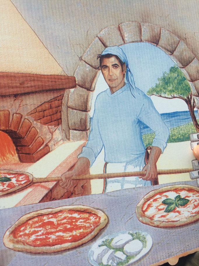 George Clooney als Pizzabäcker?